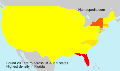 Surname Laratro in USA