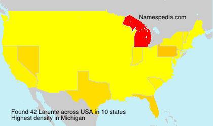 Surname Larente in USA
