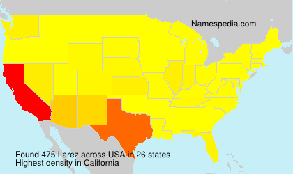 Familiennamen Larez - USA