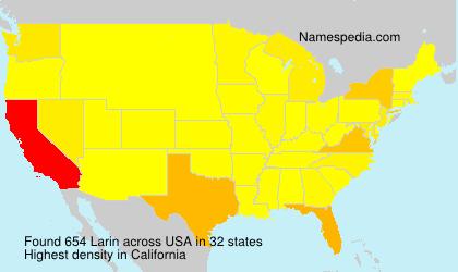 Familiennamen Larin - USA