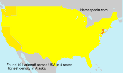 Surname Larionoff in USA
