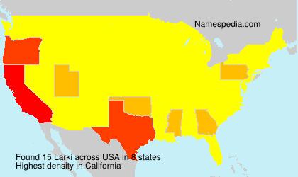 Surname Larki in USA