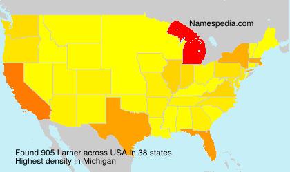 Surname Larner in USA