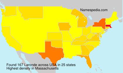 Surname Laronde in USA