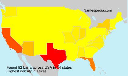 Familiennamen Larra - USA