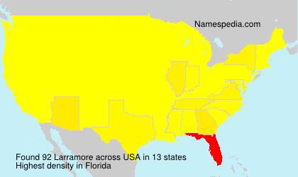 Surname Larramore in USA