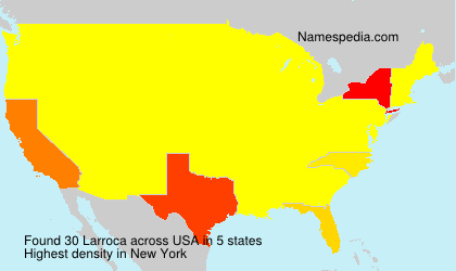 Surname Larroca in USA