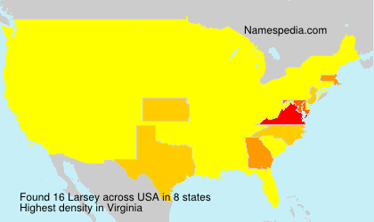 Surname Larsey in USA