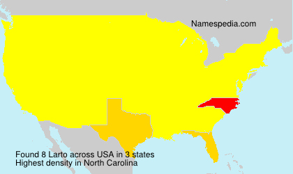 Surname Larto in USA