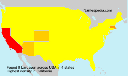 Surname Larusson in USA
