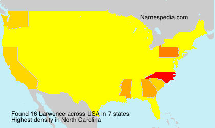 Familiennamen Larwence - USA