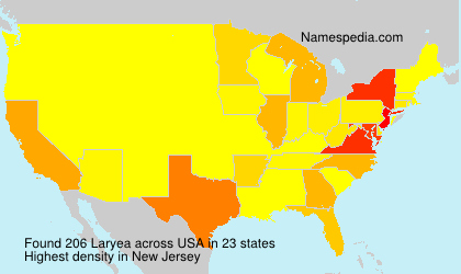 Surname Laryea in USA