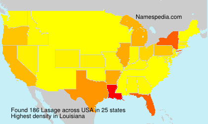 Surname Lasage in USA