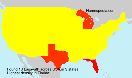 Surname Lasavath in USA