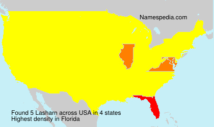 Surname Lasharn in USA