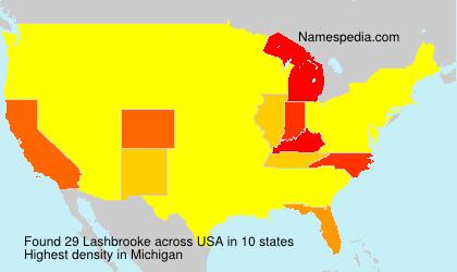 Surname Lashbrooke in USA
