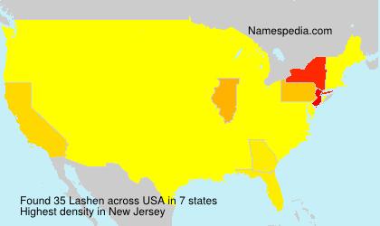 Surname Lashen in USA