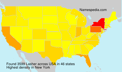 Surname Lasher in USA