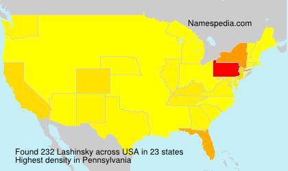 Surname Lashinsky in USA
