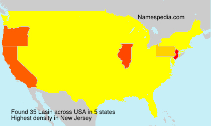 Surname Lasin in USA