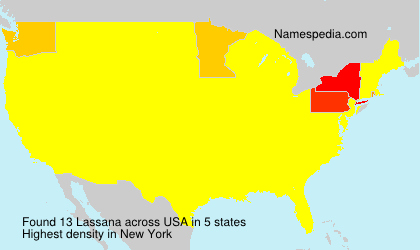 Familiennamen Lassana - USA