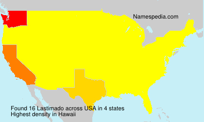Surname Lastimado in USA