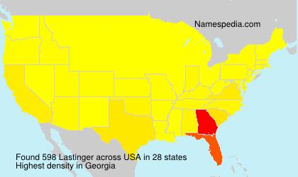 Surname Lastinger in USA