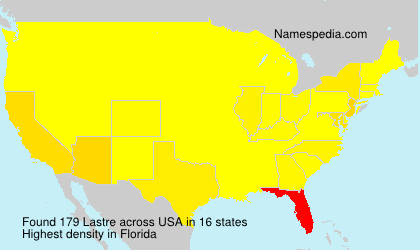 Familiennamen Lastre - USA