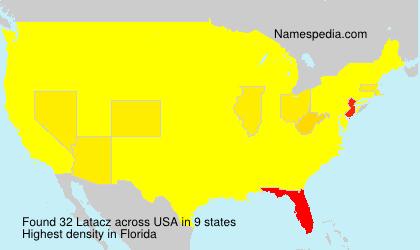 Familiennamen Latacz - USA