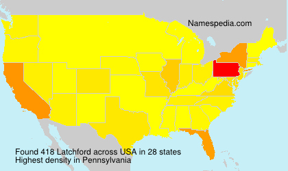 Surname Latchford in USA