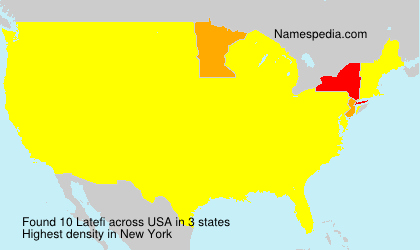 Surname Latefi in USA