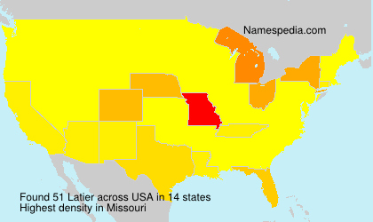 Surname Latier in USA