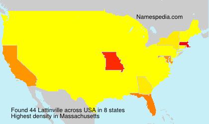 Surname Lattinville in USA