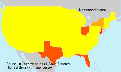 Surname Lattorre in USA