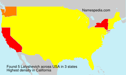 Surname Latyshevich in USA