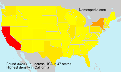 Surname Lau in USA