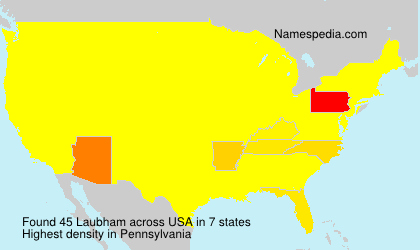 Surname Laubham in USA