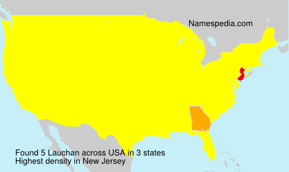 Surname Lauchan in USA