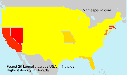 Surname Laugalis in USA