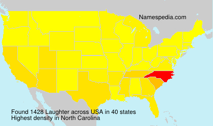 Surname Laughter in USA