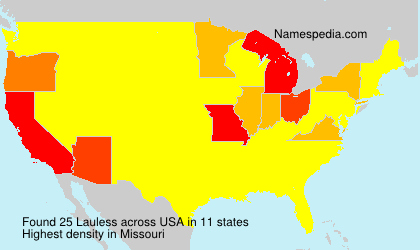 Surname Lauless in USA