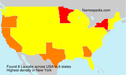 Surname Lauralie in USA