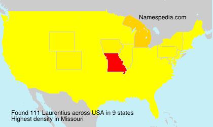 Familiennamen Laurentius - USA