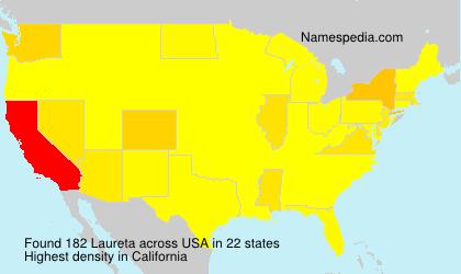 Surname Laureta in USA