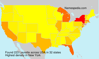 Surname Laurette in USA