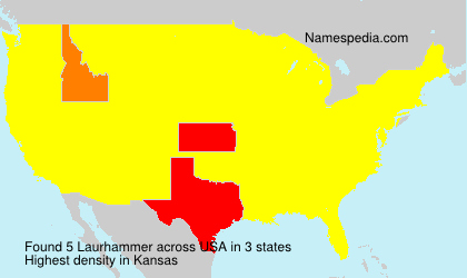 Surname Laurhammer in USA