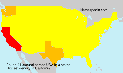 Surname Lausund in USA