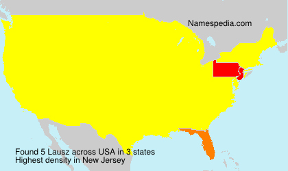 Surname Lausz in USA