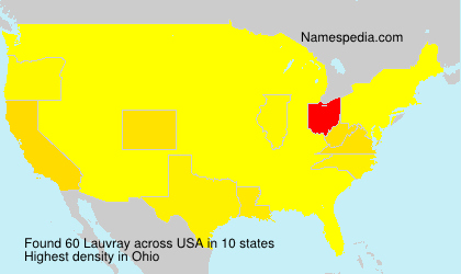 Surname Lauvray in USA