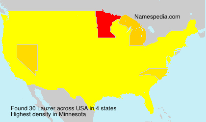 Surname Lauzer in USA
